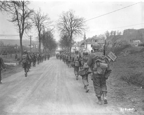 5th Infantry moves north to the Siegfried Line, 22 March 1945